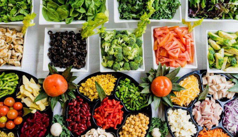Vegetables and Fruits without Calcium or Iron