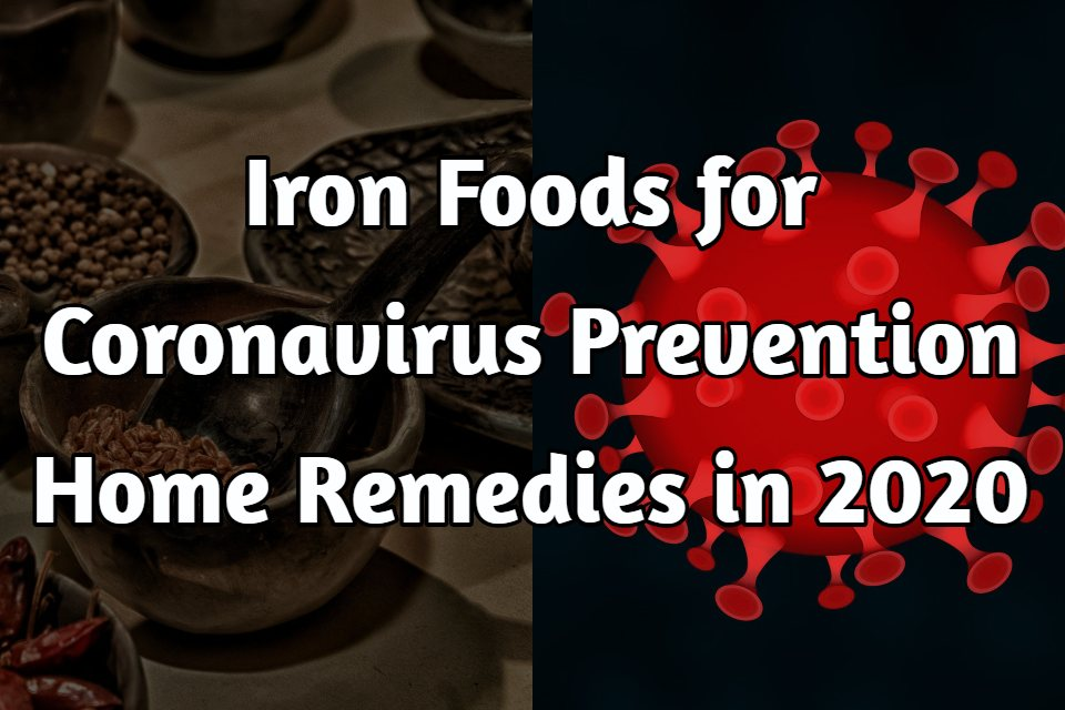 Iron Foods for Coronavirus Prevention Home Remedies